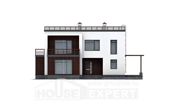 215-002-R Two Story House Plans, classic Drawing House