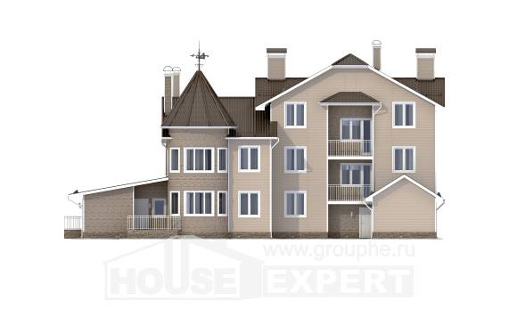 555-001-L Three Story House Plans with mansard with garage under, best house House Plan