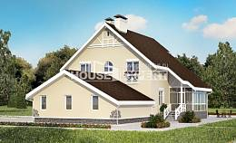 275-001-L Two Story House Plans and mansard with garage in back, a huge Villa Plan