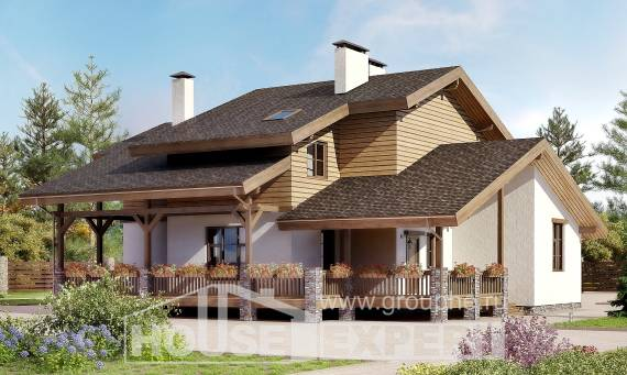 210-006-R Two Story House Plans and mansard, beautiful Architect Plans