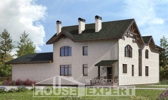 340-004-L Two Story House Plans, a huge Building Plan