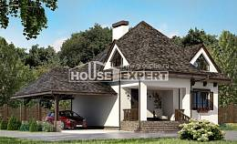 110-002-L Two Story House Plans with mansard roof with garage under, the budget Architect Plans