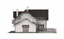 180-013-R Two Story House Plans with mansard and garage, small Custom Home