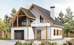 120-005-R Two Story House Plans and mansard with garage in front, cozy Planning And Design