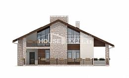 480-001-L Two Story House Plans with mansard roof, a huge Online Floor
