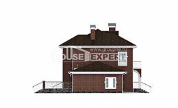 180-006-L Two Story House Plans with garage under, classic Ranch