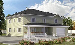 410-002-L Two Story House Plans with garage in front, luxury Blueprints of House Plans