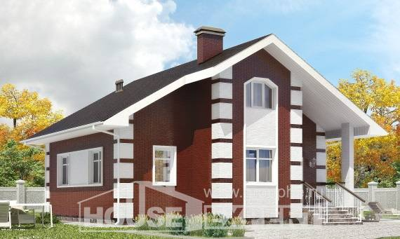 115-001-R Two Story House Plans with mansard, the budget Drawing House