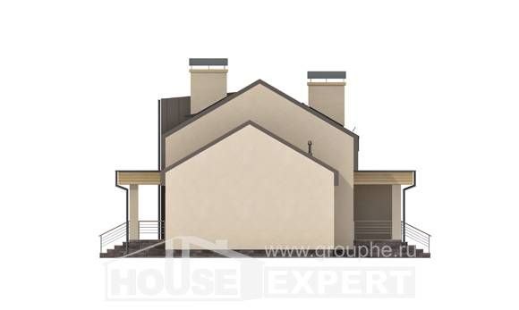 150-015-L Two Story House Plans with mansard with garage in front, small Home Plans