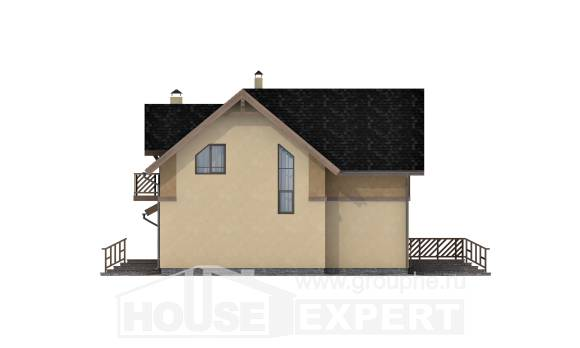 150-011-L Two Story House Plans and mansard with garage in back, cozy Planning And Design
