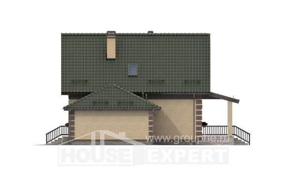 160-007-R Two Story House Plans with mansard roof with garage under, beautiful Home Plans
