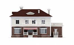 380-001-L Two Story House Plans with garage in front, spacious Online Floor