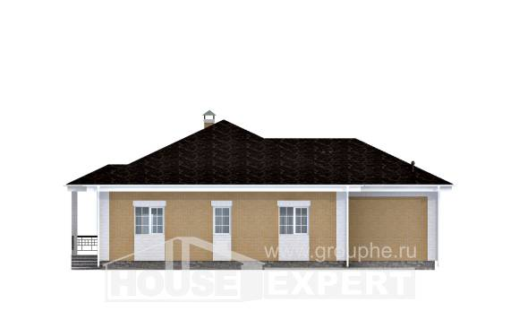 130-002-L One Story House Plans with garage in front, best house Construction Plans