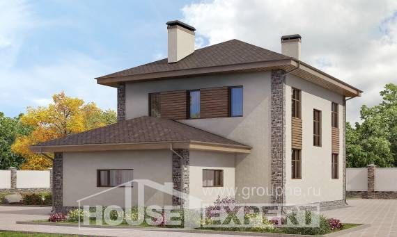 185-004-R Two Story House Plans with garage in back, beautiful Ranch