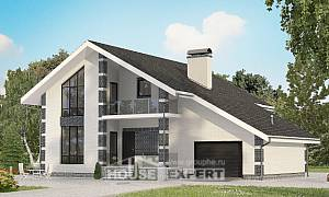 180-001-R Two Story House Plans with mansard and garage, best house Home House