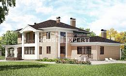 520-001-R Three Story House Plans, spacious Building Plan