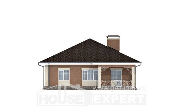 100-004-R One Story House Plans, compact Architects House