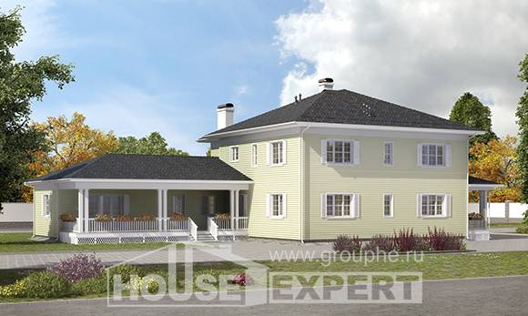 410-002-L Two Story House Plans with garage, luxury Architectural Plans