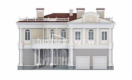 505-001-R Two Story House Plans with garage under, big Architects House