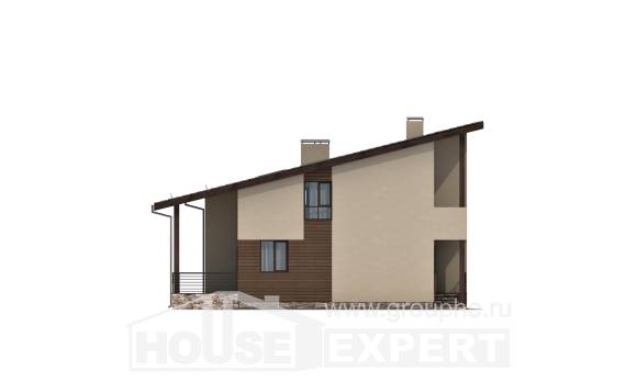 140-005-L Two Story House Plans and mansard, compact House Plan