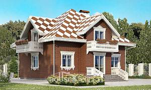 155-003-L Two Story House Plans with garage, economical Plans Free