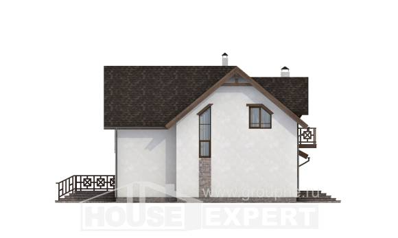 180-013-R Two Story House Plans with mansard roof with garage in front, the budget Home Plans