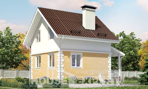 070-002-R Two Story House Plans with mansard roof, miniature Cottages Plans