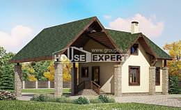 060-001-L Two Story House Plans with mansard with garage under, classic House Online