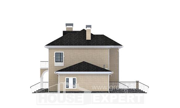180-006-R Two Story House Plans and garage, modern Cottages Plans