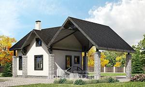 060-001-R Two Story House Plans with mansard roof and garage, modern House Plans