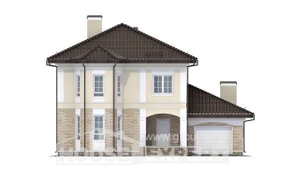 220-007-R Two Story House Plans with garage in back, beautiful House Online