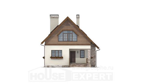 140-001-R Two Story House Plans and mansard, the budget Cottages Plans