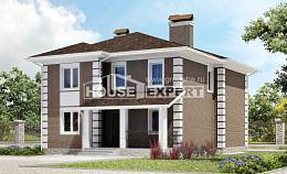 185-002-R Two Story House Plans, classic Building Plan