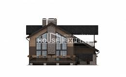 240-002-R Two Story House Plans with mansard with garage under, average Custom Home