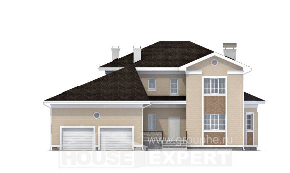 335-001-L Two Story House Plans with garage in back, cozy Custom Home Plans Online