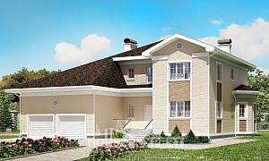 335-001-L Two Story House Plans with garage in back, a huge Architectural Plans