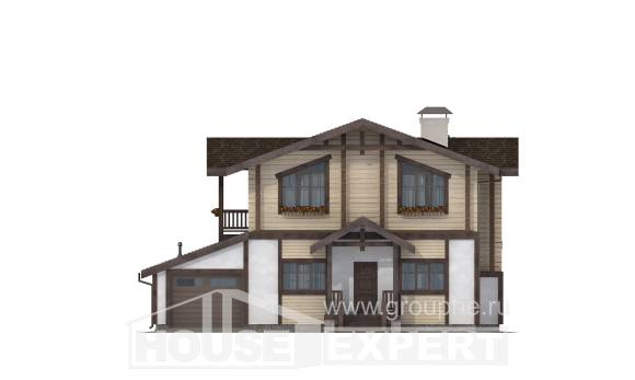 190-004-R Two Story House Plans and mansard with garage, beautiful House Planes