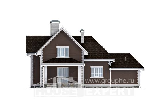190-003-L Two Story House Plans and mansard with garage in front, average Planning And Design