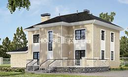 180-006-R Two Story House Plans and garage, beautiful Villa Plan