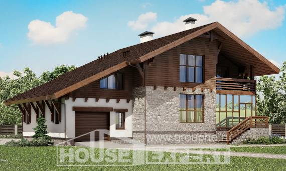 420-001-R Three Story House Plans with mansard roof with garage under, a huge Online Floor