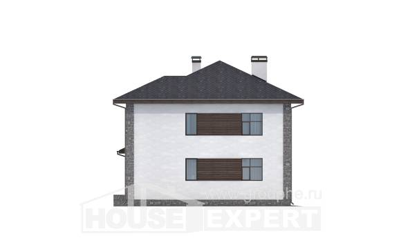185-004-L Two Story House Plans with garage in back, beautiful Drawing House