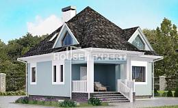 110-001-L Two Story House Plans with mansard roof, classic Villa Plan