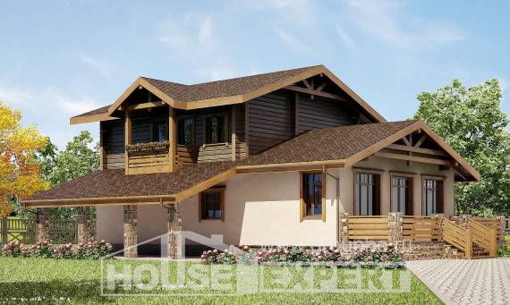 170-004-R Two Story House Plans and mansard with garage under, classic Planning And Design