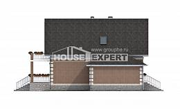 200-009-L Three Story House Plans with mansard with garage under, a simple Blueprints of House Plans