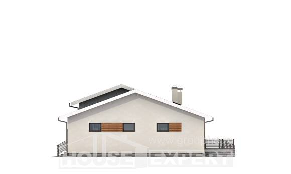 135-002-R One Story House Plans with garage in front, the budget House Plans