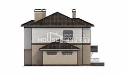 290-004-L Two Story House Plans with garage under, cozy Tiny House Plans