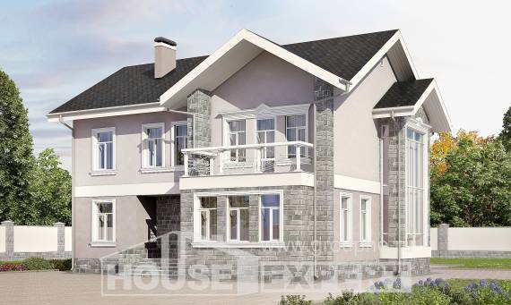 170-008-R Two Story House Plans, compact Architects House