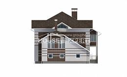 505-002-L Three Story House Plans with garage in back, a huge Home Blueprints