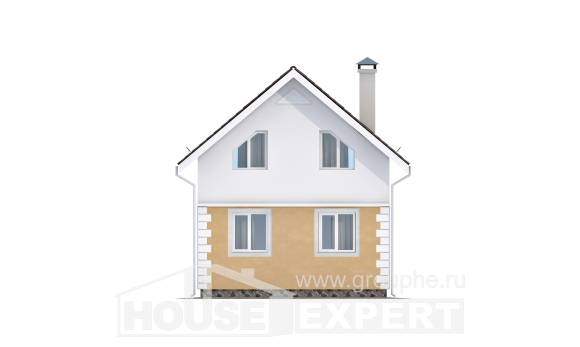 070-002-R Two Story House Plans and mansard, cheap Design Blueprints