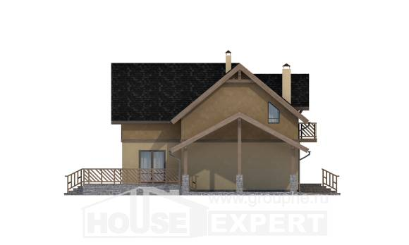 150-011-L Two Story House Plans with mansard roof with garage in front, modern Plans To Build